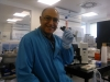 Ahmed in the cat 3 lab